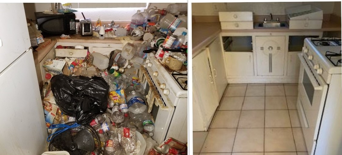 Before and After (Hoarding Job)
