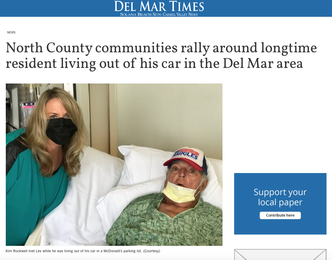 Special Feature in the Del Mar Times